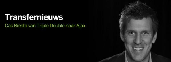 Cas Biesta maakt transfer van Triple Double naar Ajax