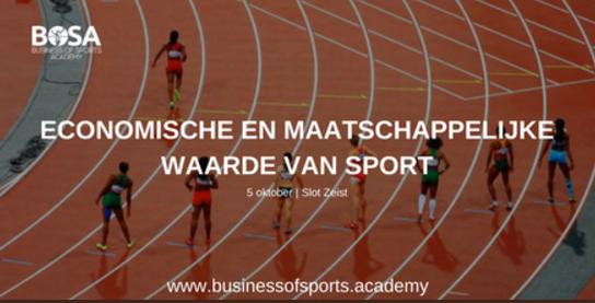 Eendaagse opleiding Economische en maatschappelijke waarde van sport
